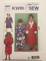 Kwik Sew 2654 Wrap Robes Children Boy Girl Sewing Pattern Size XS-XL Uncut image 1