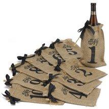 Hortense B. Hewitt Burlap Table Number Wine Bags Wedding Accessories, Se... - $33.80