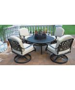 Outdoor Conversation set Patio Furniture Elisabeth 5pc club Seating Alum... - $2,399.00