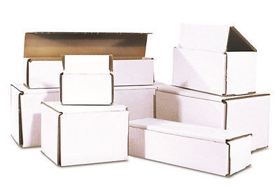 100 -8 x 3 x 3 White Corrugated Shipping Mailer Packing Box Boxes