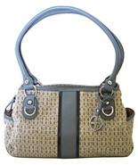 Giani Bernini Signature Swagger Satchel, Grey Chambray Pre-Owned - $24.95