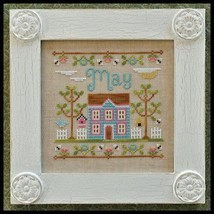 May Cottage of the Month Series cross stitch chart Country Cottage Needleworks - $5.40