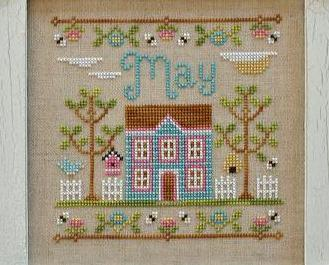 May Cottage of the Month Series cross stitch chart Country Cottage Needleworks