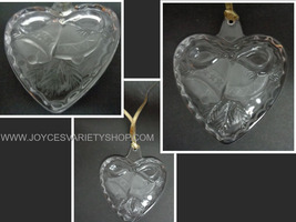 """Mikasa Crystal Heart Ornament Holiday Song NIB 3"""" - $11.99"""