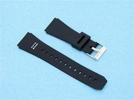 22mm Black Resin/PVC Black Watch Band Fits Case... - $8.36