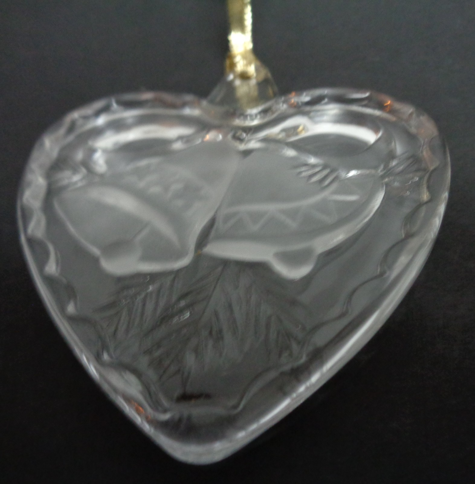 Mikasa Crystal Heart Ornament Holiday Song NIB 3""