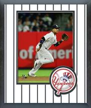 Starlin Castro 2016 New York Yankees - 11 x 14 Team Logo Matted/Framed Photo - $43.55