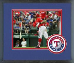 Ian Desmond 2016 Texas Rangers - 11 x 14 Team Logo Matted/Framed Photo - $42.95