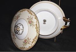 Noritake China Nana Rosa Pattern # 682 Sugar Bowl with Lid AB 336-K Vintage image 3