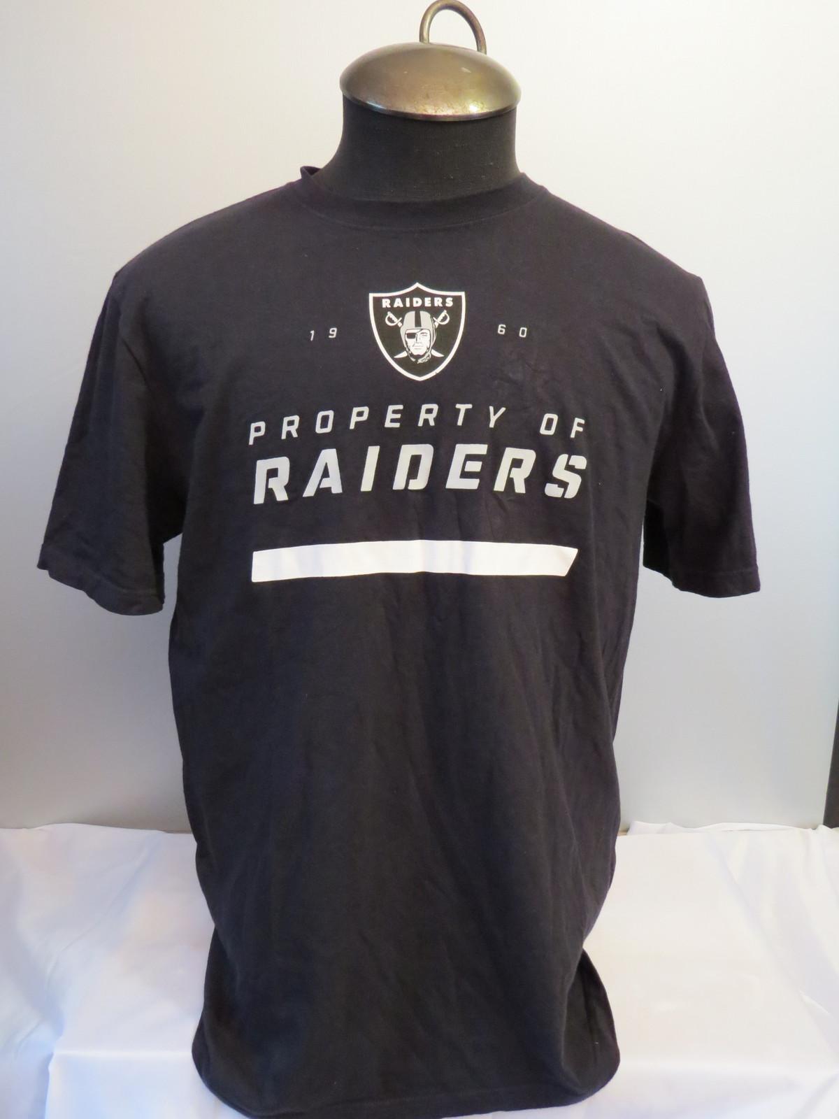 NWT NFL Oakland Raiders Men's Nike DRI FIT Cotton Blend Tee T Shirt MEDIUM