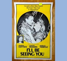 vintage ORIGINAL.MOVIE POSTER~I'LL B SEEING YOU shirley temple,ginger ro... - $42.08