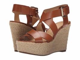 Women MICHAEL Michael Kors Celia Mid Wedge, Luggage Leather Size 9.5  - $99.95