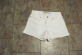 womens gap 5 pocket white denim jeans shorts size 1 26 - $16.82