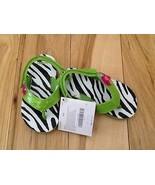 Gymboree Wild for Zebra Toucan Flip Flops Thongs Sandals Little Girl 7-8... - $9.49