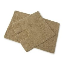 Premier Walnut Brown 100% Cotton Bath and Pedestal Mat Set - $16.48