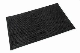 Chloe Black Microfibre Single Bath Mat 50cm x 80cm - $19.78