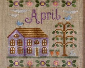 April Cottage of the Month Series cross stitch chart Country Cottage Needleworks