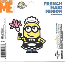 Despicable Me French Maid Minion Figure Peel Off Car Sticker Decal NEW U... - $2.95