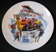 XIII Olympic Plate Lake Placid Winter Games 1980 Commemorative Limited E... - $25.00