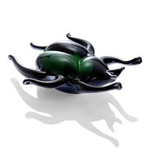 ART GLASS  Iridescent  Beetle Insect Paperweight ,7'' x 2''H. - $29.70