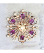 Elegant Art Deco Purple Rhinestone Sterling Pen... - $79.95