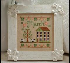 March Cottage of the Month Series cross stitch chart Country Cottage Needleworks - $5.40