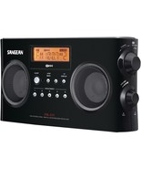 Portable Stereo Receiver W Am And Fm Radio Black Digital Alarm Music Travel - $108.85