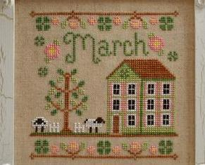 March Cottage of the Month Series cross stitch chart Country Cottage Needleworks
