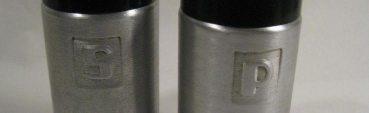 Primary image for Vintage Salt & Pepper Shakers - aluminum  - Unmarked