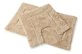 Luxurious Latte 2 Piece Bath Mat Set - Bath Mat and Pedestal Mat - $31.33