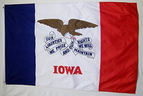 State of Iowa Flag 3' X 5' Indoor Outdoor State Banner
