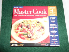 Deluxe Master Cook Kitchen & Recipe Manager Software+Bonus - $7.95