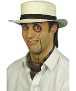 STRAW BOATER HAT, SCHOOL DAYS FANCY DRESS, UNIFORMS, ONE SIZE, UNISEX - $4.65