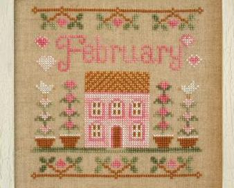 February Cottage of the Month Series cross stitch chart Country Cottage Needlewo