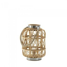 Small Woven Rattan Candle Lantern - £34.21 GBP