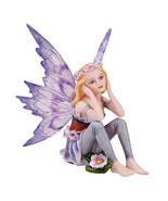 Purple Day Dreaming Ada Small Meadowland Tribal Periwinkle Flower Girl F... - €16,22 EUR