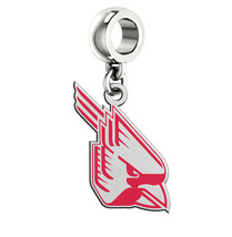 Ball State Cardinals Silver Logo and School Color Drop Charm - $49.00