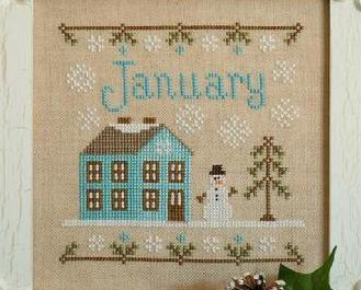 January Cottage of the Month Series cross stitch chart Country Cottage Needlewo