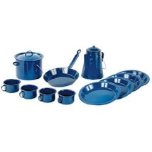 World Famous 13-piece Blue Enamel Campware Set ... - $89.09