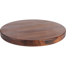 John Boos Walnut Round Edge Cutting Board with Maintenance Products - $217.91
