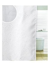 Diamante Spiral White Polyester Shower Curtain 180 x 180cm - $14.84