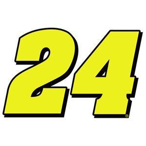 "Primary image for 8"" Jeff Gordon Number  24 Vinyl Window Decals Stickers Nascar Hall of Famer"