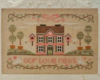 Our Love Nest cross stitch chart Country Cottage Needleworks