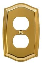 Runwireless 10-104D Duplex Solid Brass Colonial Wallplate, Solid Stamped... - $7.80