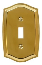 Runwireless 10-104T Toggle Colonial Wallplate, Solid Stamped Brass - $7.80