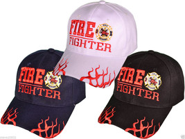 NEW Fire Fighter w/ Flame and maltese Cap. Black or Navy Blue - $9.89
