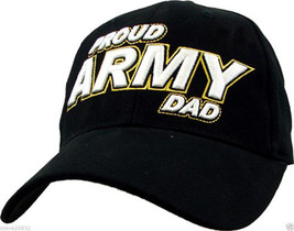 NEW U.S. Army. Proud Army Dad Cap. Black. E583. - $14.99