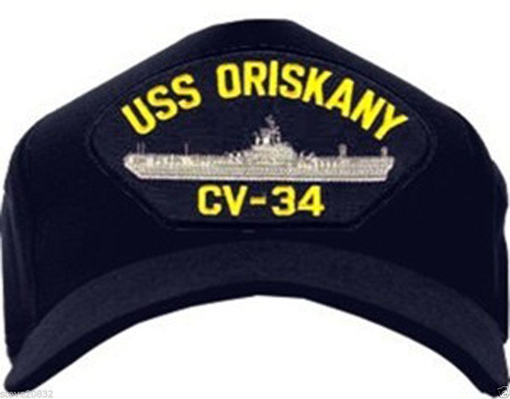 NEW USS Oriskany CV-34 Baseball cap hat. Navy Blue. Made in USA.