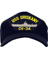 NEW USS Oriskany CV-34 Baseball cap hat. Navy Blue. Made in USA. - $16.99