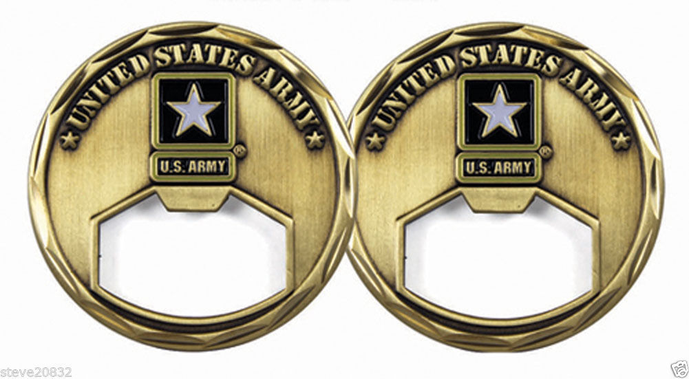 new u s army bottle opener challenge coin challenge coin 3138 challenge coins. Black Bedroom Furniture Sets. Home Design Ideas